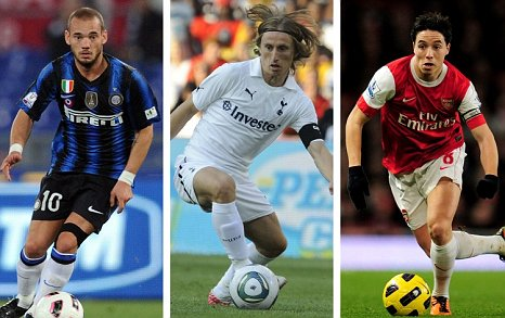 Wesley Sneijder, Luka Modric and Samir Nasr: None set for Manchester United transfers