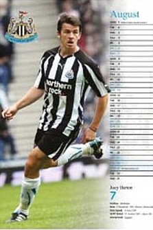 Joey Barton, Newcastle calendar