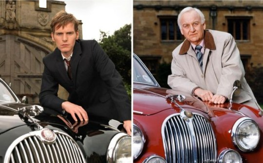 Arresting images: Shaun Evans (left) will step into John Thaw's shoes to play the younger Morse PA/ITV