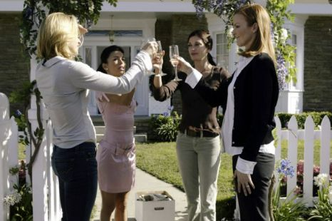 Felicity Huffman, Eva Longoria, Teri Hatcher and Marcia Cross in happier times