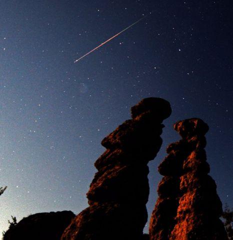 Perseid meteor shower Macedonia