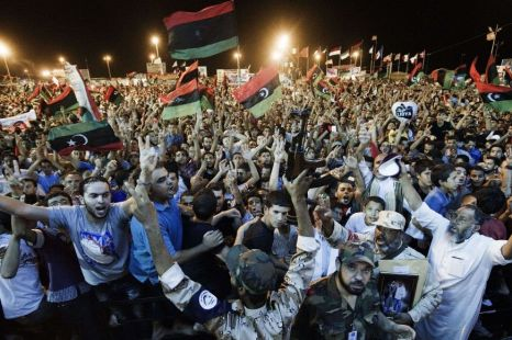 Tens of thousands of Libyans celebrate in Tripoli