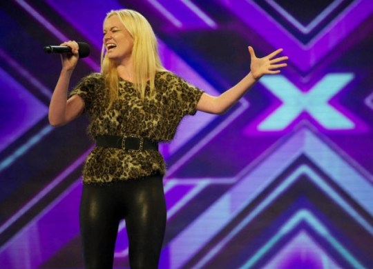 ITV handout photo of X Factor contestant Kitty Brucknell, who worked as a honeytrap for a private detective agency, it was reported today. PRESS ASSOCIATION Photo. Issue date: Monday August 22, 2011. The singer, who wowed the judges on Saturday's episode of the show, sang Lady Gaga's Edge Of Glory before being voted through to the next round. Dalbir Virdee told the Sun he watched the ITV1 show and recognised Kitty as the same woman who approached him three years ago after being hired by his ex-wife. See PA story SHOWBIZ XFactor. Photo credit should read: Ken McKay/ITV/Talkback Thames/PA Wire NOTE TO EDITORS: This handout photo may only be used in for editorial reporting purposes for the contemporaneous illustration of events, things or the people in the image or facts mentioned in the caption. Reuse of the picture may require further permission from the copyright holder.