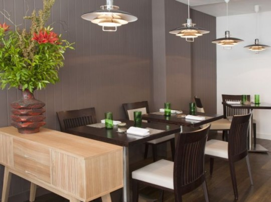 A table at Roganic restaurant