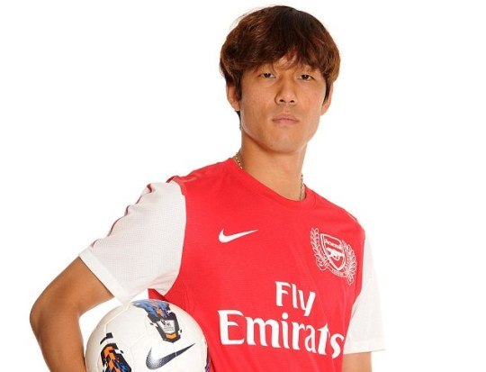 Chu Young Park has been unveiled by Arsenal