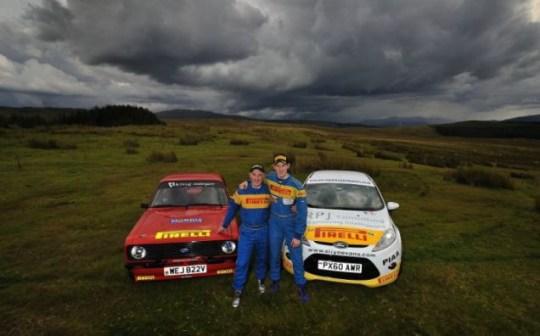 Gwyndaf and Elfyn Evans cars Mk2 Escort R2 Fiesta