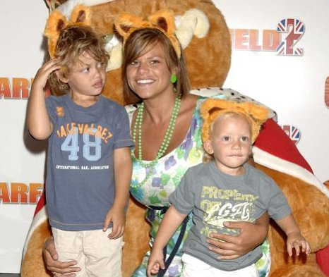Jade Goody, pictured with her sons Bobby and Freddie