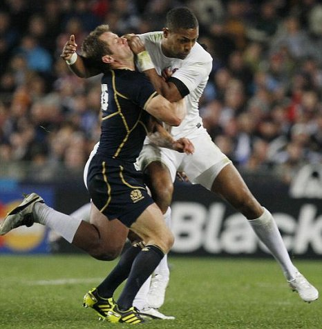 Delon Armitage admitted his tackle on Scotland's Chris Paterson was dangerous (Picture: AP)