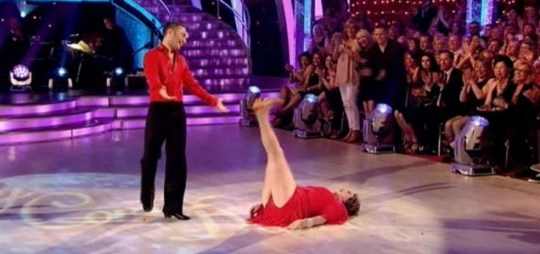 Edwina Currie performing the dance move known as 'The Widdecombe'. (Picture: BBC)