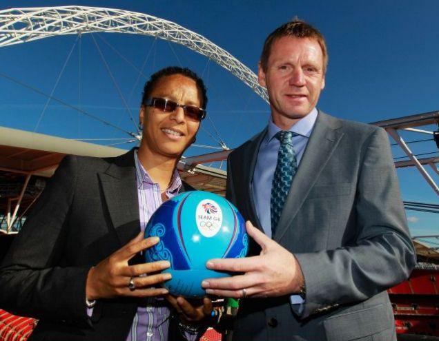 Stuart Pearce and Hope Powell Olympic football 2012