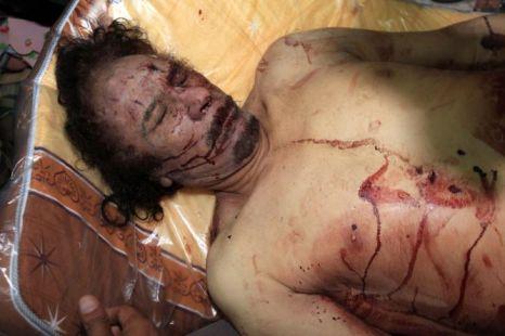 Muammar Gaddafi pictured in Misrata (Picture: AFP/Getty)