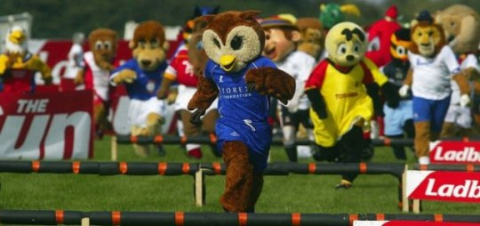 Oldham Athletic's Chaddy the Owl, assaulted.