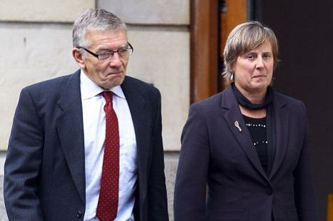 Joanna Yeates' parents, David and Teresa Yeates, outside Bristol Crown Court, where their daughter's murderer, Vincent Tabak, was sentenced to life (Picture: Getty Images)