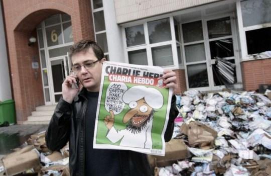 Charlie Hebdo fire bomb