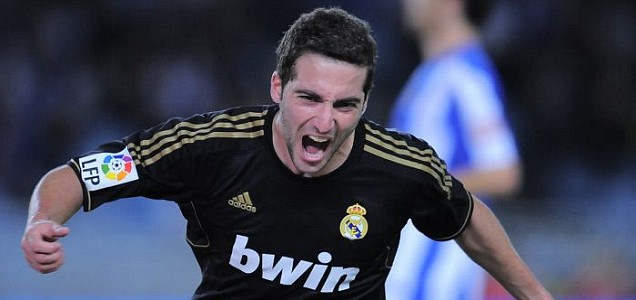 Real Madrid's Gonzalo Higuain