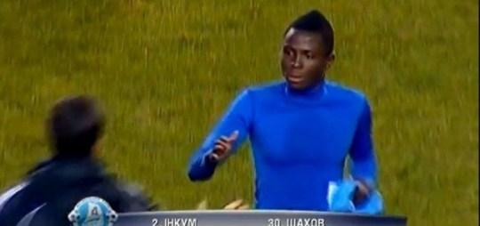 Samuel Inkoom, red card, substitution.