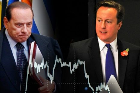 David Cameron has warned eurozone leaders that Italy is a 'clerar and present danger' to the viability of the single currency