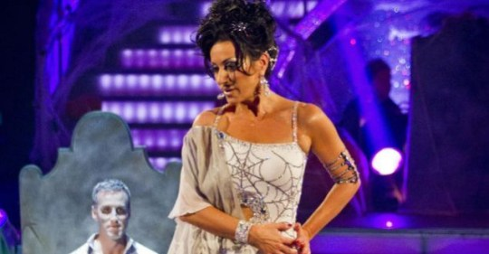 Nancy Dell'Olio  and Anton Du Beke dancing the Rumba to Spooky by Dusty Springfield