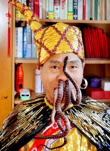 Liu Fei, snakes.