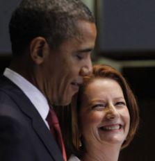 Barack Obama and Julia Gillard