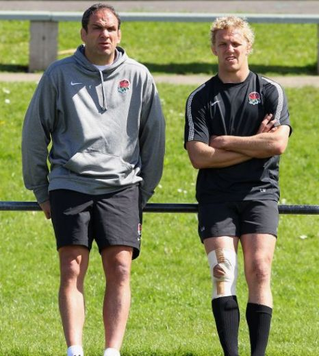 Lewis Moody, Martin Johnson