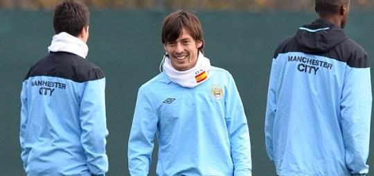 Manchester City's midfielder David Silva
