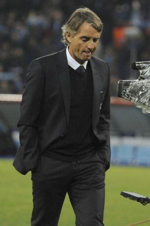 Manchester City coach Roberto Mancini