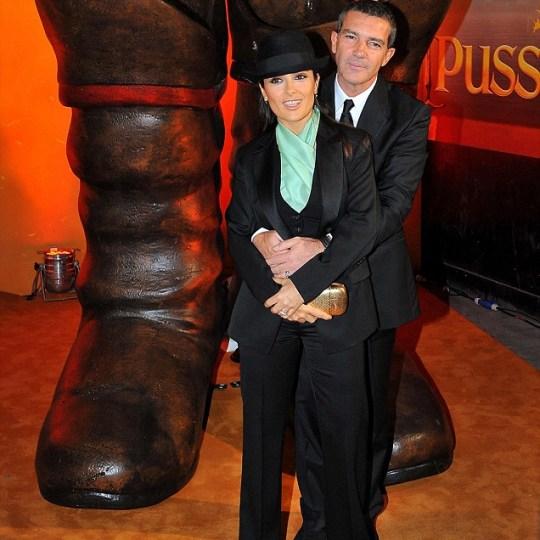 Puss in Boots premiere Salma Hayek Antonio Banderas