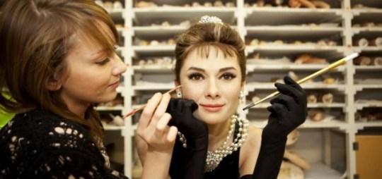 Audrey Hepburn Madam Tussauds waxwork