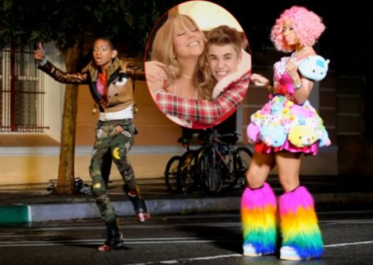 Justin Bieber, Mariah Carey, Willow Smith, Nicki Minaj