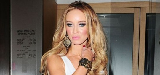 TOWIE star Lauren Pope seen out at Nobu