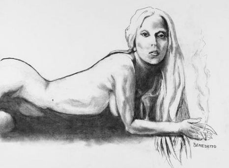 Tony Bennett, Lady Gaga naked sketch