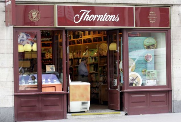 Thorntons sales drop recession economy business