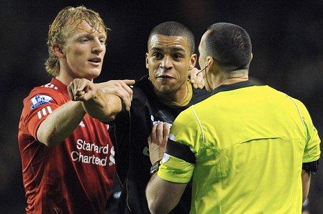 Liverpool v Oldham Dirk Kuyt Tom Adeyemi
