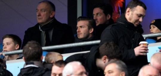 David Beckham Manchester derby