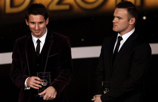 Wayne Rooney, Lionel Messi, Ballon d'Or