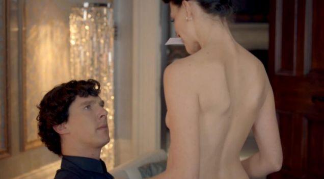 Lara Pulver said her nudes scenes were a celebration of womanhood. (Picture: BBC)