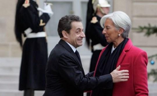 Christine Lagarde and Nicolas Sarkozy EU tax economy