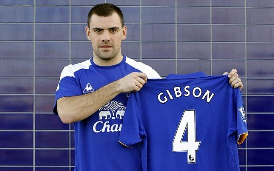 Everton's new signing Darron Gibson