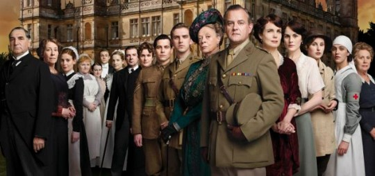 Downton Abbey returns for a fifth series.Pictured: JIM CARTER as Mr carson,PHYLLIS LOGAN as Mrs Hughes, AMY NUTTALL as Ethel Parks, LESLEY NICOL as Mrs Patmore, SOPHIE MCSHERA as Daisy Robinson, THOMAS HOWES as William Mason,JOANNE FROGGATT as Anna Smith, BRENDAN COYLE as John Bates, SIOBGHAN FINNERAN as Sarah O'Brien, ROB JAMES-COLLIER as Thomas Barrow, DAN STEVENS as Matthew Crawley, MAGGIE SMITH as Violet, HUGH BONNEVILLE as Robert, ELIZABETH MCGOVERN as Cora,MICHELLE DOCKERY as Mary,LAURA CARMICHAEL as Edith, JESSICA BROWN FINDLAY as Sybil and PENELOPE WILTON as Isobel.
