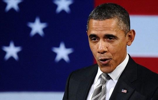 US president Barack Obama singing