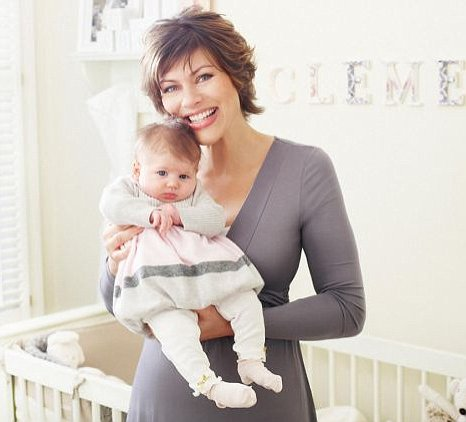 Kate Silverton and baby