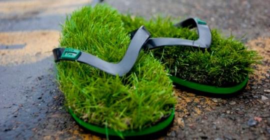 KUSA, grass, flip flop