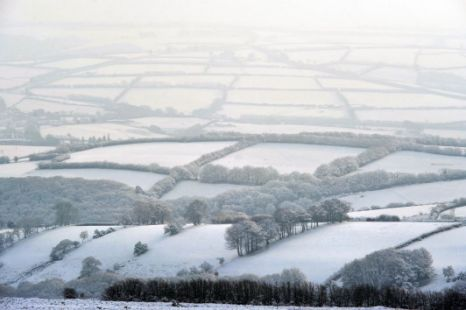 Dunkery Hill on Exmoor, snow