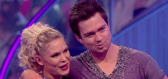 Sam Nixon says his goodbyes on Dancing On Ice (Picture: ITV)