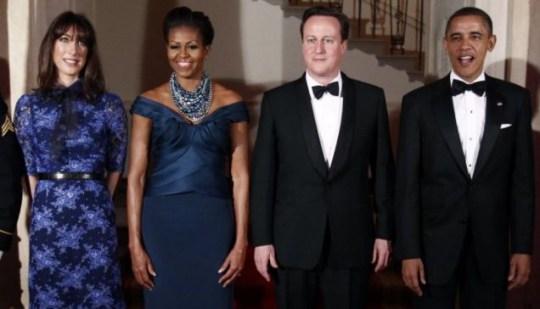 Barack Obama, Michelle Obama, David Cameron, Samantha Cameron