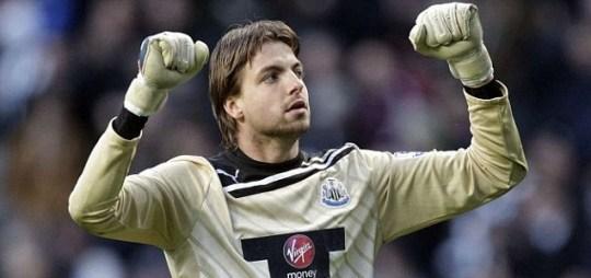 Newcastle United's goalkeeper Tim Krul