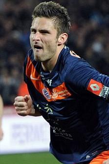 Montpellier's French forward Olivier Giroud