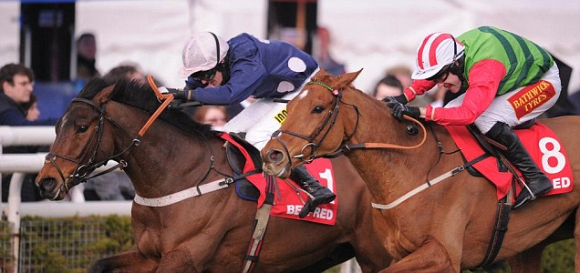 Lackamon ridden by Ryan Mania on their way to winning The Betfred 'The Bonus King'
