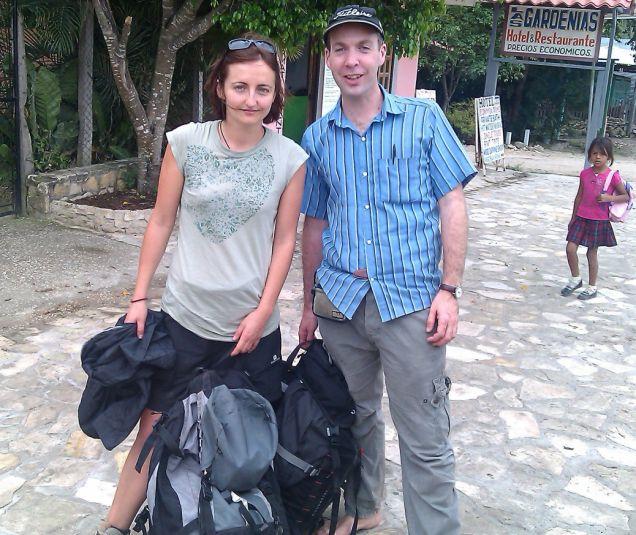 Jonathan Smith, 37, swaps bags with Agnes Varnier